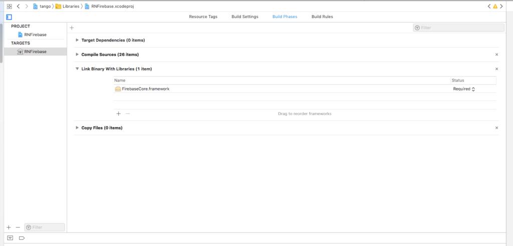 itechinsiders - add in firebase iOS react native