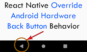 How to handle device back button in react-native with react-native-router-flex
