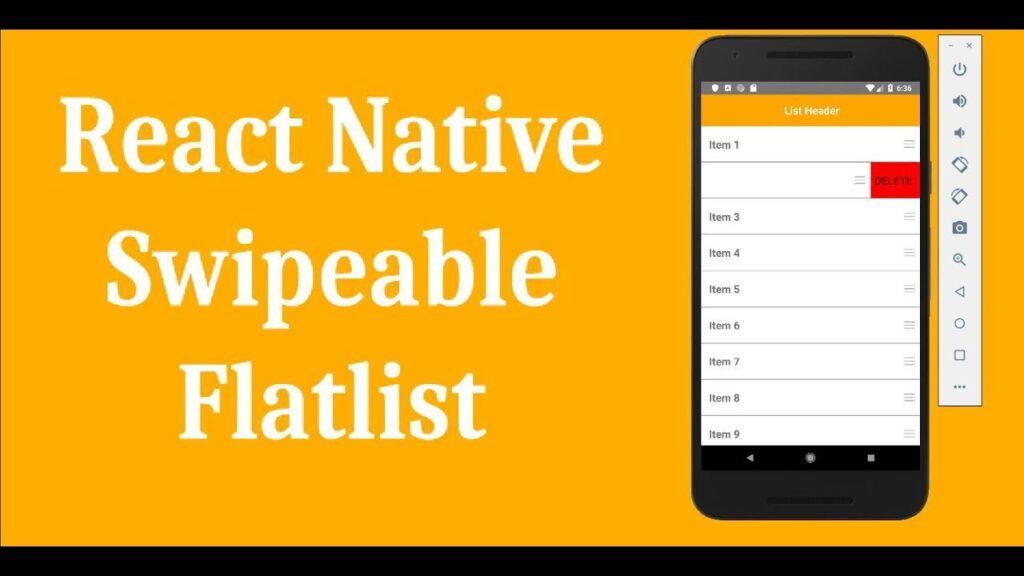 https://www.itechinsiders.com/ - react native swipable flatlist